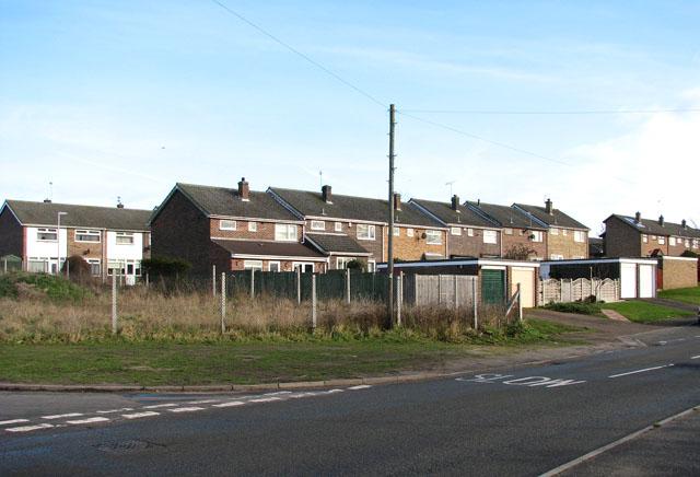 Terrace housing in Lords Lane, Bradwell