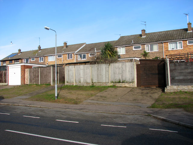 Terrace housing in Lords Lane, Bradwell