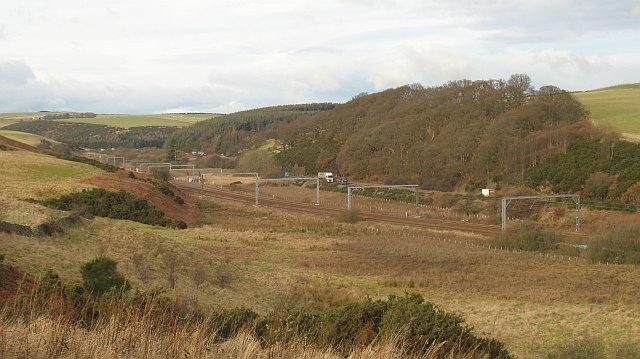 A1 and East Coast railway, Grantshouse