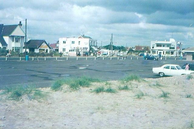 Greatstone car park in 1972