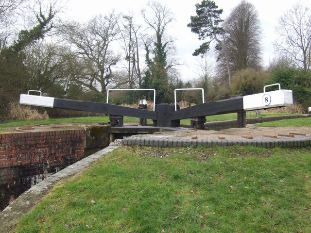 Lapworth Locks - Lock No. 8  Bottom gates