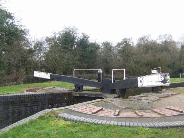 Lapworth Locks - Lock No. 9 Bottom gates