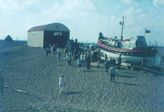 Dungeness lifeboat station in 1968