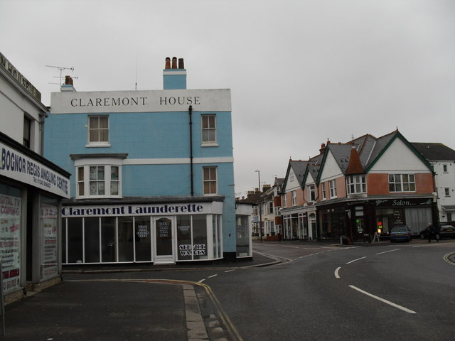Claremont Launderette in Bognor town centre