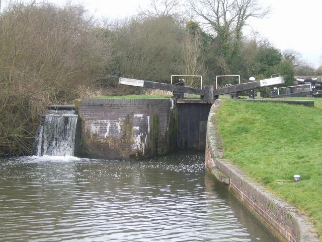 Lapworth Locks - Lock No. 10 Bottom gates