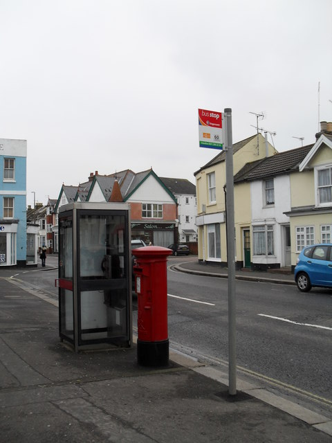 Bus stop in West Street