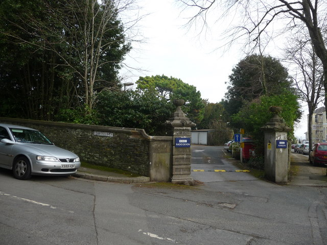 Plymouth : BBC Entrance & Courtfield Road