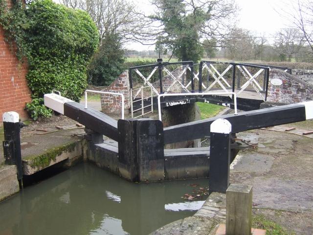 Lapworth Locks - Lock No. 7 Bottom gates
