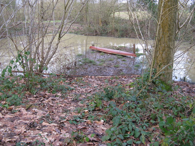 Canoe at Upper North Pond