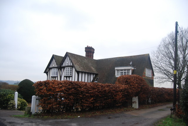 Half timbered house at the entrance to Beggar's Barn Farm