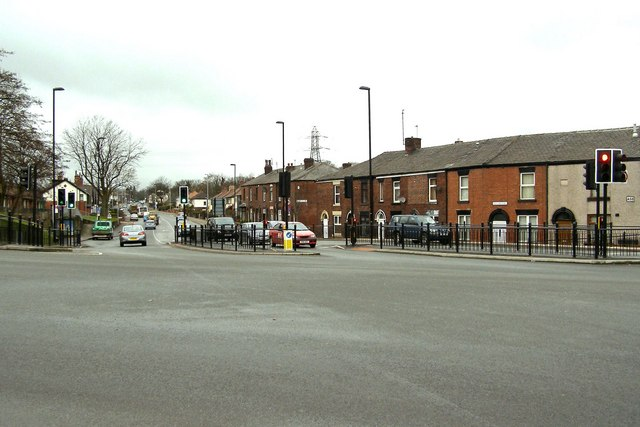 Bolton Road (the A58) at Sudden