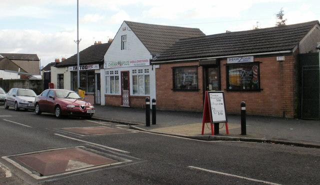 Three shops, Cromwell Road, Newport