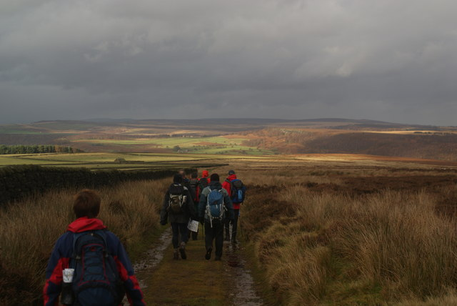 Descending on Gibbet Moor