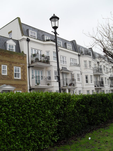 Houses in The Steyne as seen from Steyne Gardens (1)