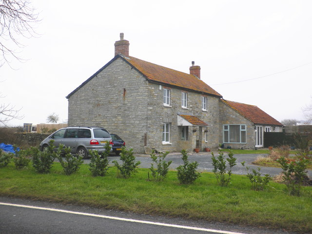 Isolated house, on the A361 to Street