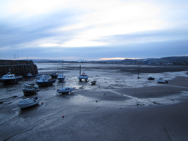 Tides out, Minehead Harbour