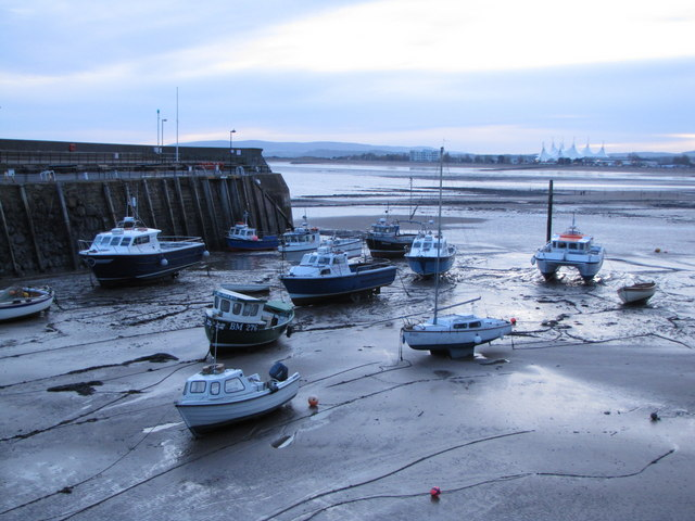 Boats in the mud, Minehead Harbour