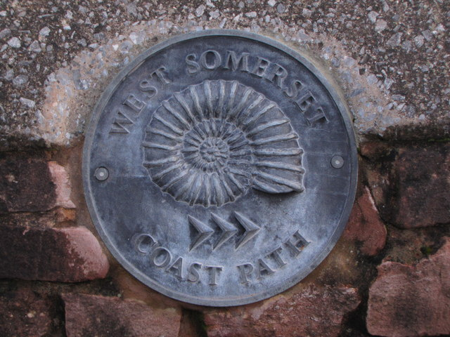 Plaque to mark the beginning of the West Somerset Coastal Path, Minehead