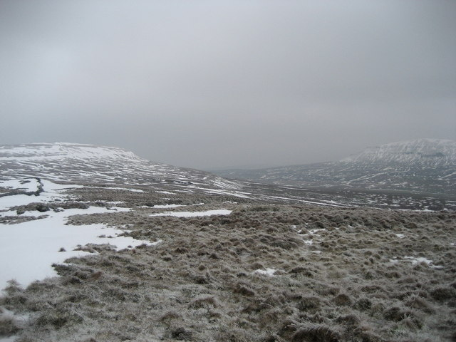 View towards Fountains Fell and Pen y Ghent