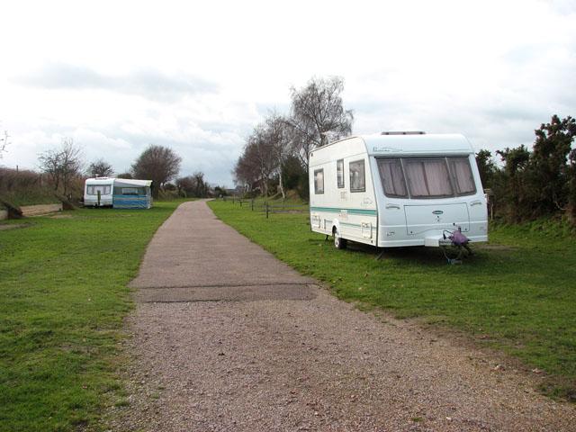 Caravans in Rose Farm touring park
