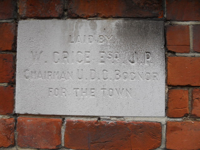 Foundation stone at  the Salvation Army hall in Bognor (2)