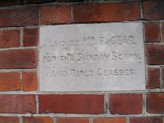 Foundation stone at  the Salvation Army hall in Bognor (4)