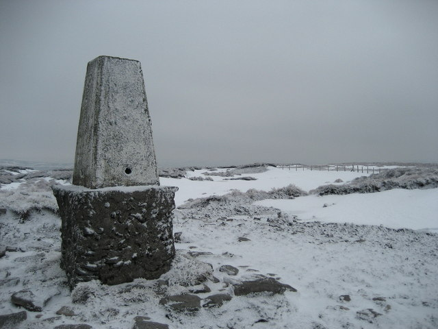 Trig Column on Darnbrook Fell