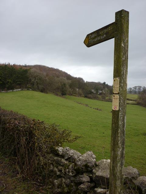 Footpath to Haverbrack