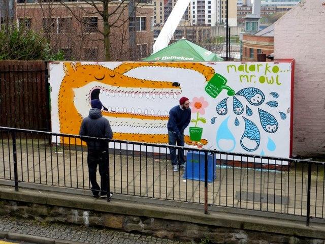 Guerilla art by Malarko, City Road