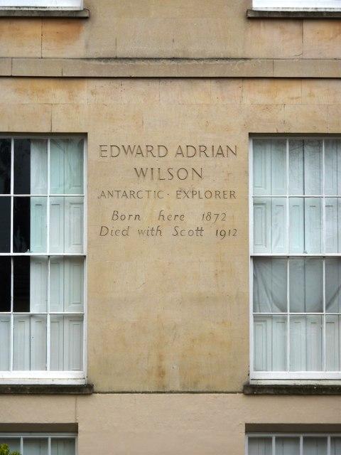 Edward Adrian Wilson, Antarctic Explorer, Inscription, Montpellier Terrace, Cheltenham