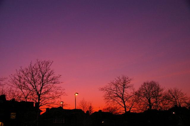 Amazing Sunset, London N14