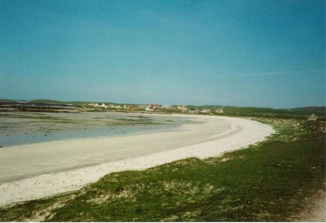 The machair and beach at Traigh nam Faoghailean