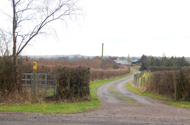 North end of footpath from Tomlow Lane to Stockton village