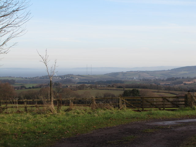 View NE towards Washford
