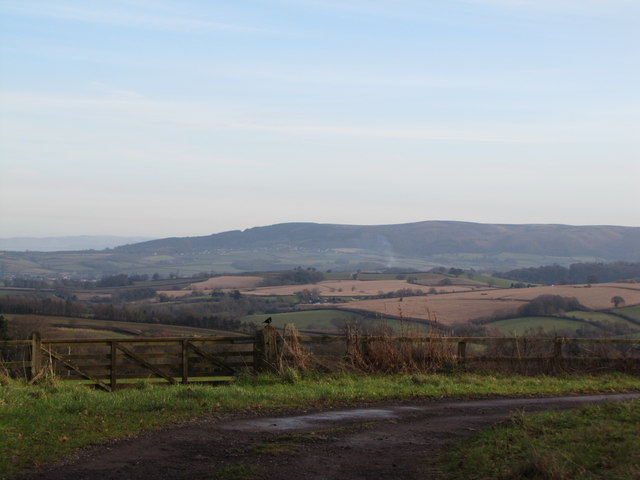 View east to the Quantock Hills