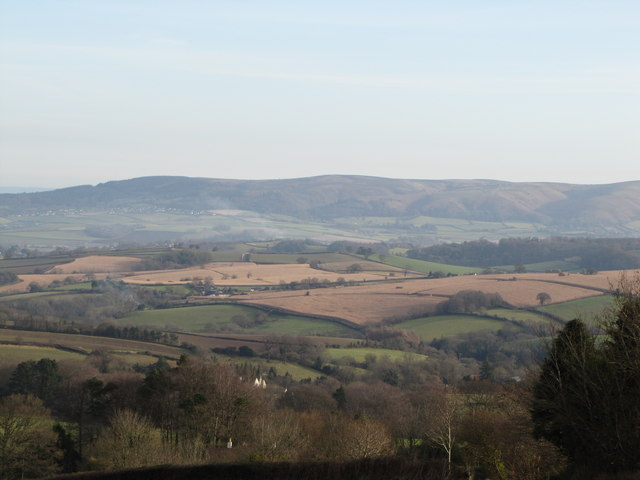 View east towards the Quantock Hills
