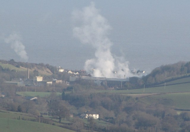 Steam from the paper mill at Watchet