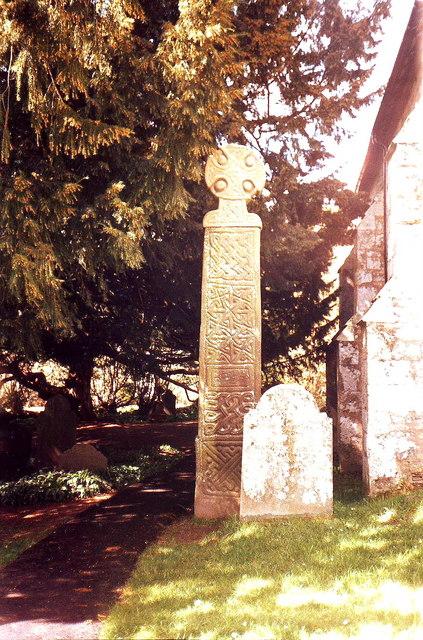 Celtic cross in Nevern churchyard