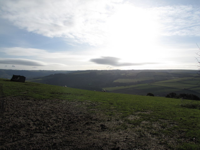 The view NE from Stout's Way Lane