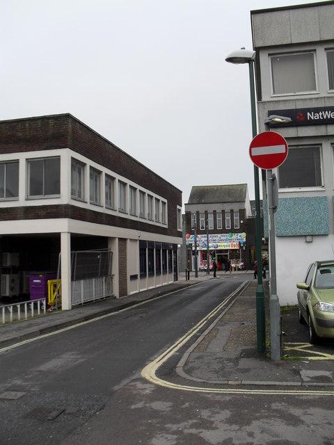 Bottom end of Bedford Street