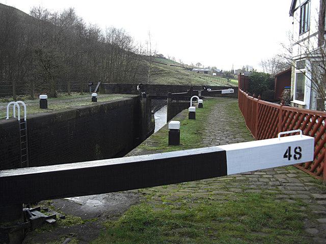 Littleborough Bottom Lock no 48 Rochdale Canal