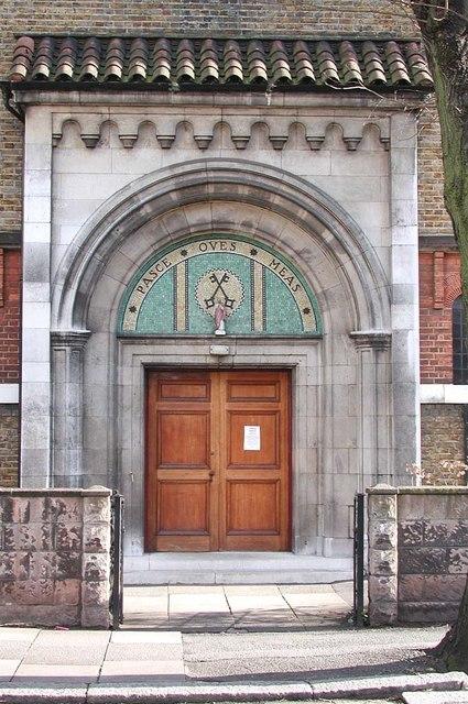 St Peter, Southfield Road, London W4 - Doorway