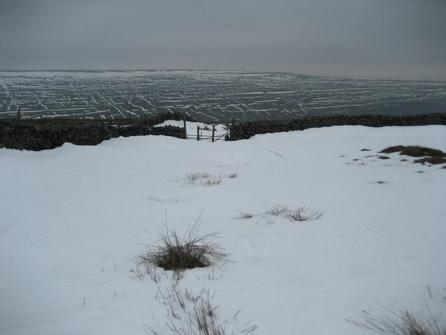 Gate above Little Scoska Moor
