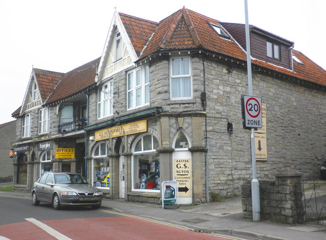 Shops and offices, High Street, Street