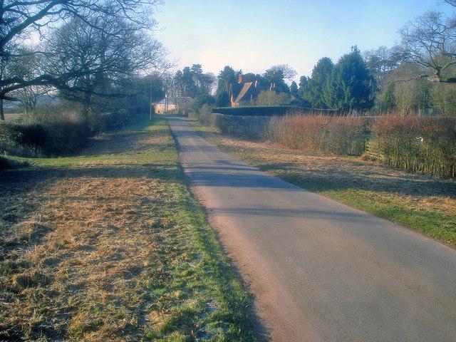 Lane near The Elms