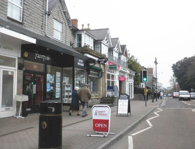 Shops and flats, High Street, Street