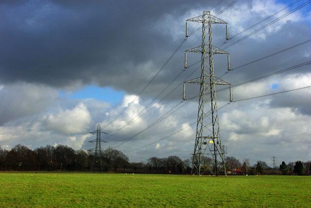 Pylons near Smallfield