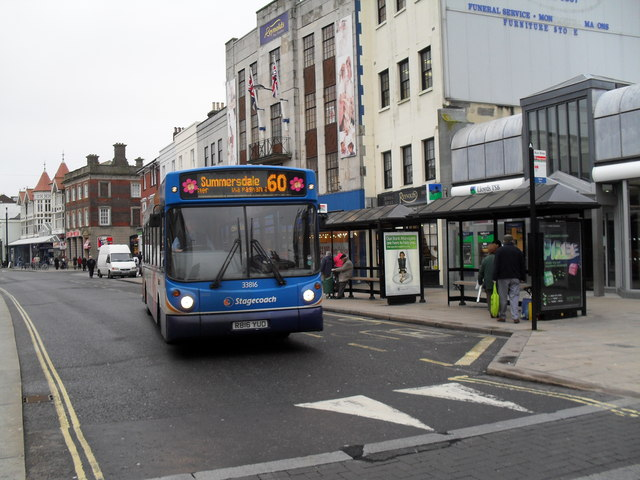 Bus for Summersdale in the High Street