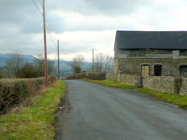 Road to Rhydspence