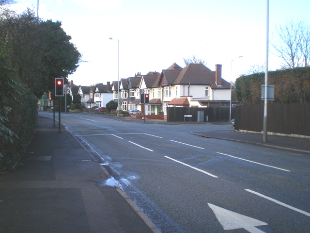 Traffic signals on the Compton Road